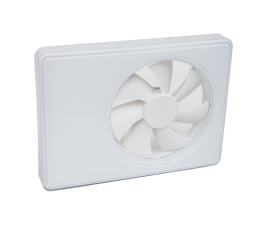 DUKA SMART FAN VENTILATOR HVID Ø100/125MM - FUGT OG TIDSSTYRET