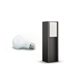 PHILIPS HUE TURACO BEDLAMPE PIEDESTAL 1X9W 230V ANTRACIT
