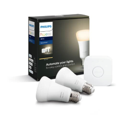 PHILIPS HUE STARTSÆT 2 LED PÆRER 9W A60 E27 WHITE BRO BLUETOOTH
