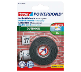 TESA DOBBELTKLÆBENDE TAPE OUTDOOR 1,5MX19MM