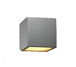 CUBE XL LED VÆGLAMPE SILVER IP54 2X6W 256186