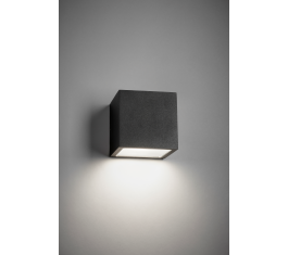 CUBE DOWN LED VÆGLAMPE SORT IP54 3W 256191