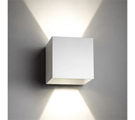 BOX MINI UP/DOWN LED IP54 HVID 2X2W 76X76MM 261045