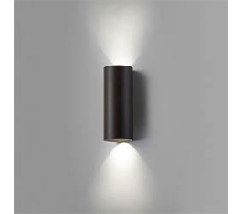 ZERO W2 LED VÆGLAMPE SORT IP54 2X4W 8X20CM 256326